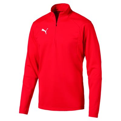 puma LIGA TRAINING 1/4 ZIP TOP Kinder rot