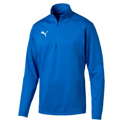 puma LIGA TRAINING 1/4 ZIP TOP Kinder blau