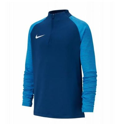 nike DRI FIT BREATHE Strike Trainingsshirt Kinder langarm blau