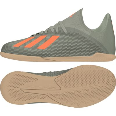 adidas X 19.3 IN Hallenschuh Kinder grün-orange – Bild 1