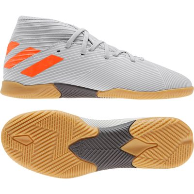 adidas NEMEZIZ 19.3 IN Hallenschuh Kinder grau-orange – Bild 1