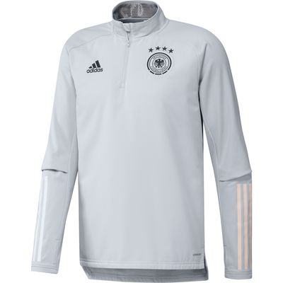 adidas DFB DEUTSCHLAND Warm TOP - Longsleeve Herren EURO 2020 hellgrau – Bild 1