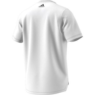 adidas TAN LOGO T-Shirt Herren weiß – Bild 2