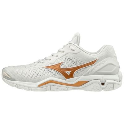mizuno WAVE STEALTH V weiß-gold