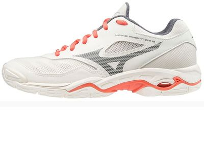 mizuno WAVE PHANTOM 2 Frauen weiß-orange – Bild 1