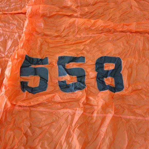 Gebrauchter 44m² Spinnaker SL=9,3 UL=5 von Reckmann in Orange – Bild 4