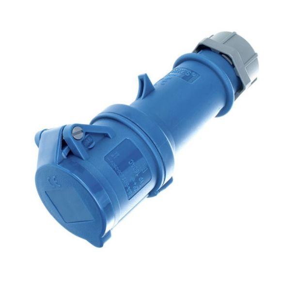 Mennekes 16A CEE Kupplung 180AC, IP44, 3 polig, blau – Bild 1
