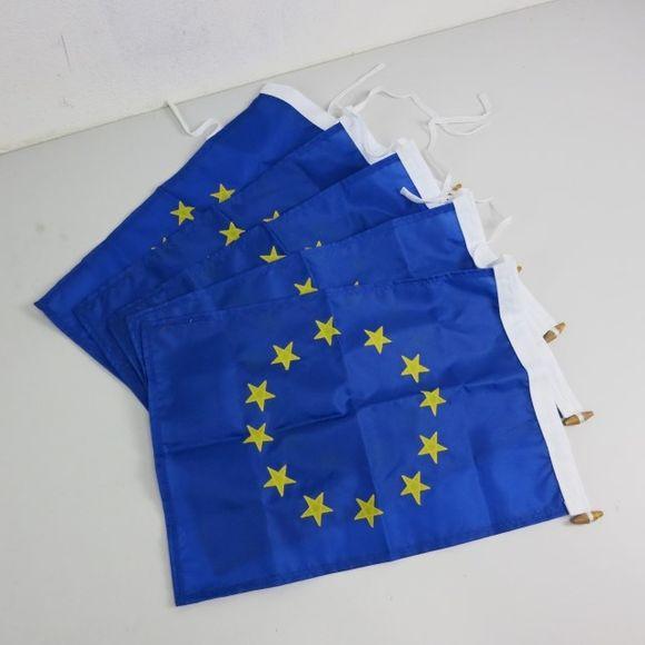 5x Flagge Europa Nylon 30 cm x 40 cm FLE-20052