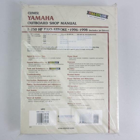 Reparaturhandbuch Yamaha Manual 2-250 PS 2 Stroke 1996-1998 B785  – Bild 2