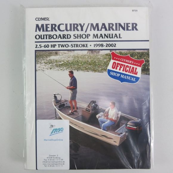 Clymer Mercury/Mariner Manual 2.5-60PS 2Str 1998-2002 B725 02 Eng – Bild 1