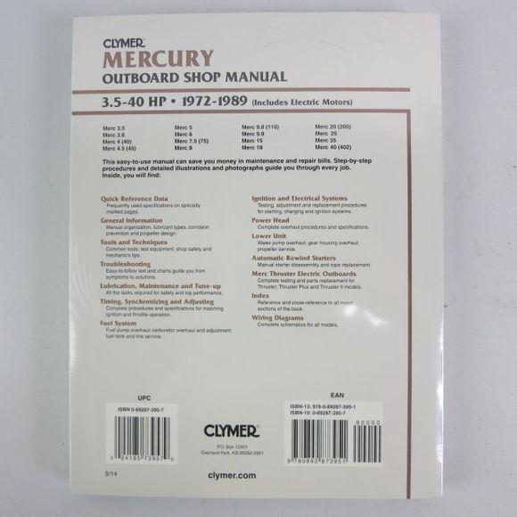 Reparatur Mercury Manual 3.5-40 PS 1972-1989 B721 Werkstattbuch – Bild 2
