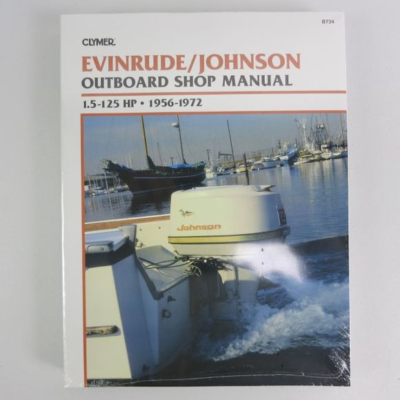 Clymer Evinrude Johnson Manual 1.5-125 PS 1956-1972 B734 Englisch – Bild 1