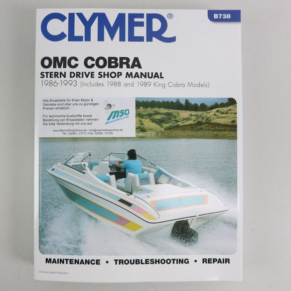 Clymer OMC Cobra Stern Drive Manual 1986-1993 + King Co B738 09 – Bild 1