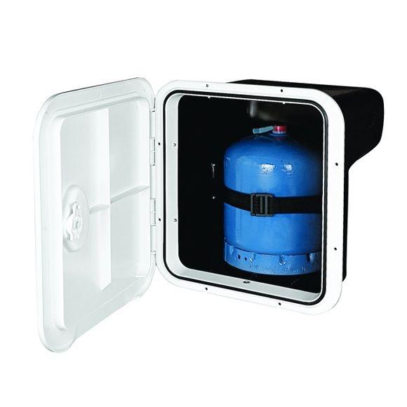 Staufach Fach für Gasflasche bis 3 kg 356x397 mm creme TOP LINE – Bild 1