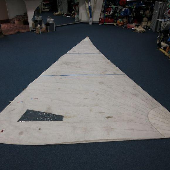 Gebrauchte defekte 15,6 m² Genua VL=7,72 UL=4,20 biradial Fritz – Bild 1