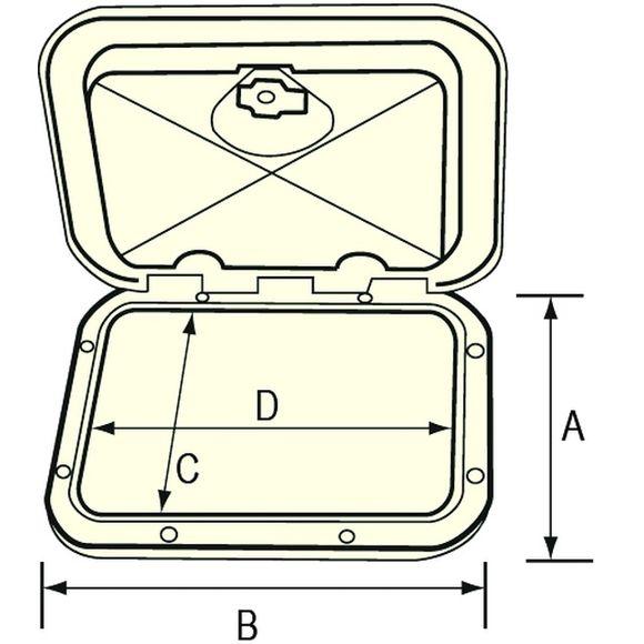 275x375 mm Staukasten mit Schüben & Schloss weiß Schubladenkasten – Bild 5