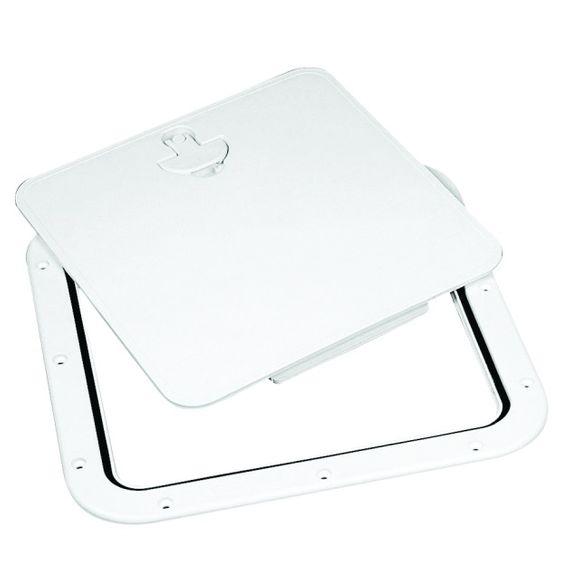 380x380 mm Inspektionsluke weiß mit abnehmbarer Klappe Bootsluke – Bild 1