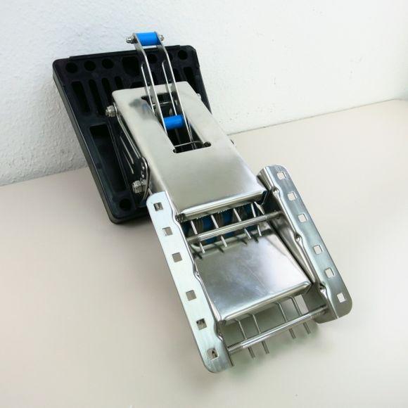 Edelstahl Außenborder Motorhalterung < 50kg Hilfsspiegel klappbar – Bild 3