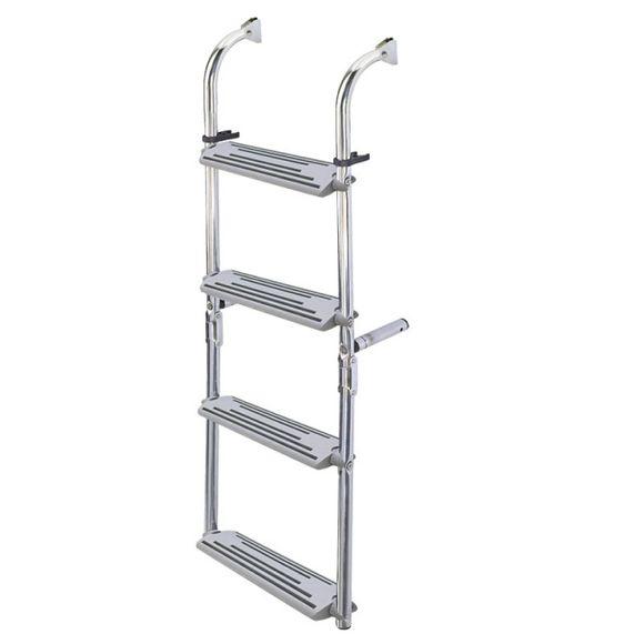 Badeleiter 3 - 6 Stufen Leiter klappbar Edelstahl Kunststoff 90° – Bild 1