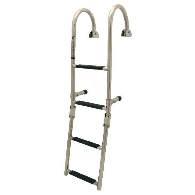 Badeleiter 1+2 2+2 2+3 Stufen Bootsleiter klappbar Edelstahl 180° – Bild 1