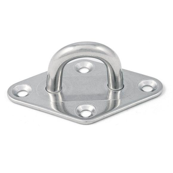 Edelstahl Augplatte gestanzt & geschweißt Ø 5/6/8 Inox Mastplatte – Bild 1