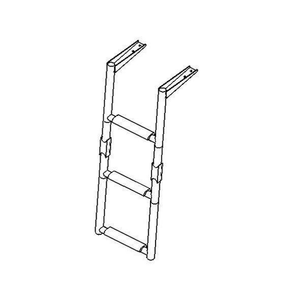 Badeleiter 1+2 2+2 Stufen Plattformmontage Edelstahl klappbar – Bild 2