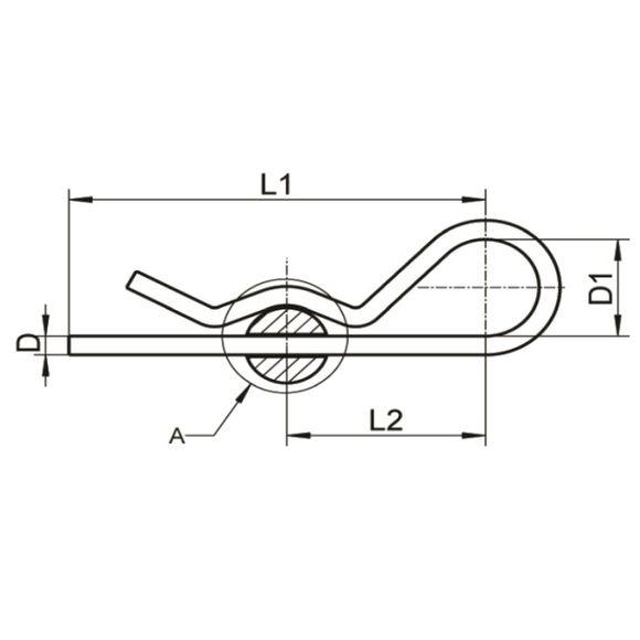 2x Edelstahl Federstecker Ø 2-6mm Stecksplint Federsplint Splint – Bild 2