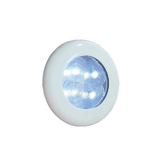 LED Leuchte 12V Lampe IP67 Gehäuse weiß Ø75mm LED weiß oder rot – Bild 3