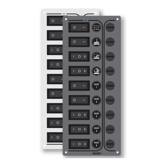 12/24 V Schalttafel 9 Schalter Schaltpanel Schaltpaneel control  – Bild 1