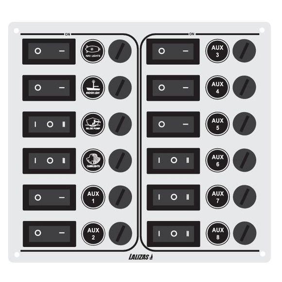 12/24V 12 Schalter Schalttafel Schaltpanel Schaltpaneel control – Bild 2