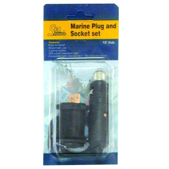 12V Steckdose Stecker Dose Zigarettenanzünder Einbaudose Boot – Bild 2