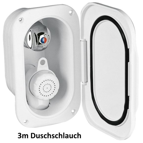 Duschset Einbaugehäuse Schlauch Duschkopf Borddusche Boot Dusche – Bild 3