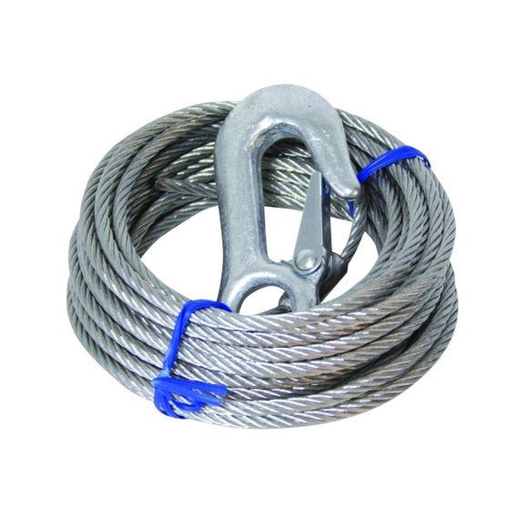 Drahtseil Stahlseil mit Haken für Seilwinde Seilzug Handseilwinde – Bild 1