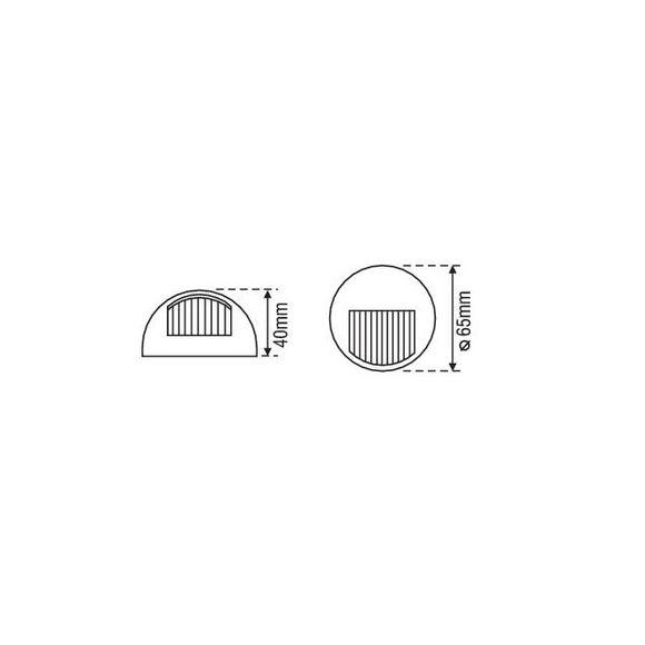 12V Power 7 Navigationsleuchte Aufbau Positionsleuchte weiß – Bild 3