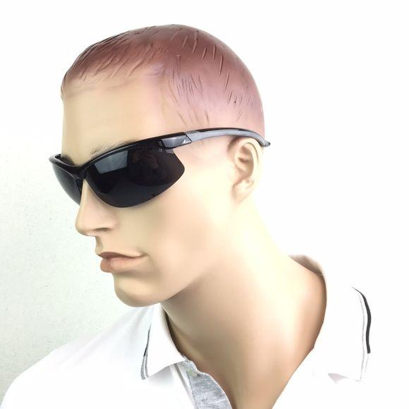 Sonnenbrille Halbrand 1mm polarisiert TR90 schwarz Segeln Yacht – Bild 3
