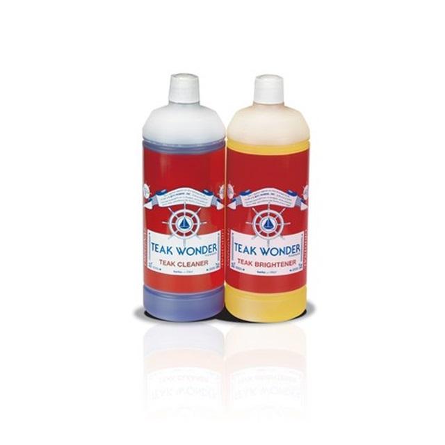 2 X 1 000ml Kombi Pack Teak Reiniger Aufheller Entgrauer Farben