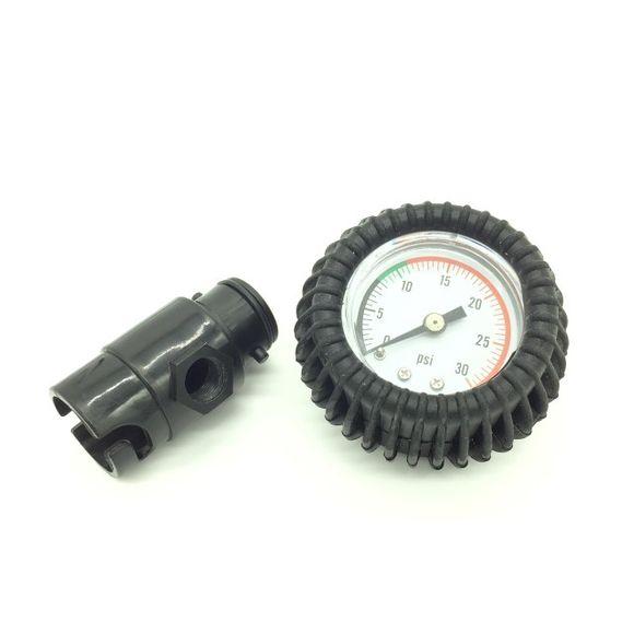 Manometer mit Pumpenadapter Luftdruckanzeiger Barometer 0 - 30psi
