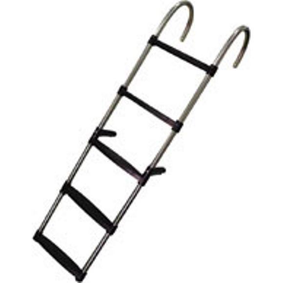 Badeleiter Edelstahl abnehmbar 5 Stufen H = 136 cm Montageplatten – Bild 1