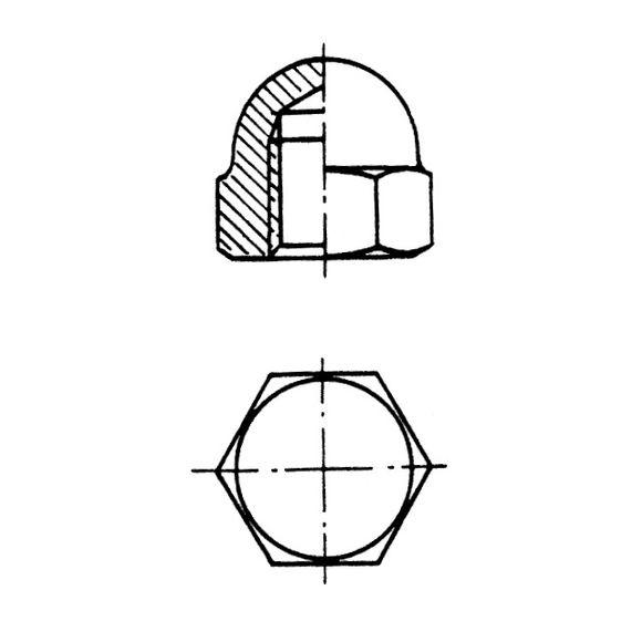 Paket Hutmutter DIN 1587 Edelstahl AISI 316 M3 - M10 Grommet Nut