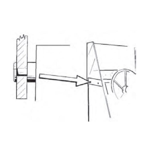 10 Stück Distanzscheibe Set Windschild Schraubenkappe Kunststoff – Bild 2