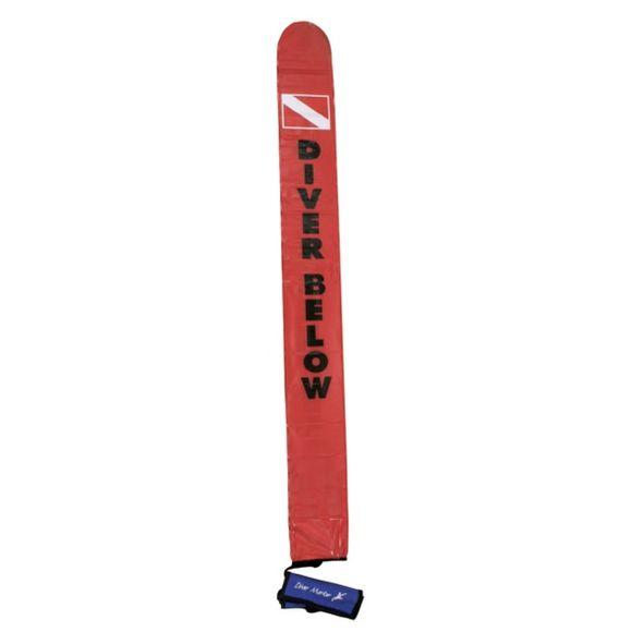 145cm Taucherboje SMB Diver Below aufblasbar inkl Tasche 6m Leine – Bild 1
