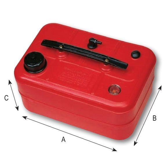 Kraftstofftank Tank tragbar Ø 8mm Auslass Filter 10l / 25l rot – Bild 2