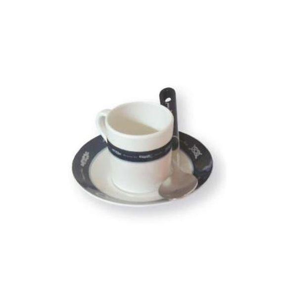 6er Set Espresso Tassen Melamin unzerbrechlich Maritimes Muster – Bild 1