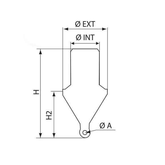 Ø 800 x 1610mm Markierungsboje schaumgefüllt Backbord Fahrwasser – Bild 2