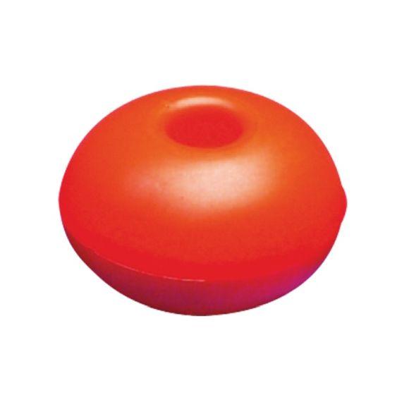 10 Stk Ø 57 mm Schwimmer Loch Ø 8mm Seil rund Kunststoff orange