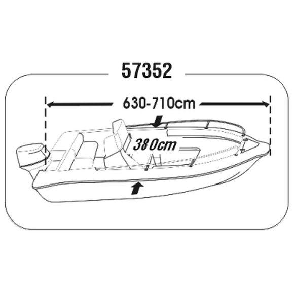 Persenning Motorboote div Größen Plane Schutzhülle Boat Cover – Bild 10