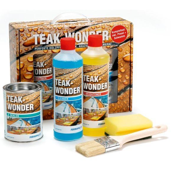 Ferropilot Teak-Wonder Holzpflege Reiniger Aufheller Versiegelung – Bild 1