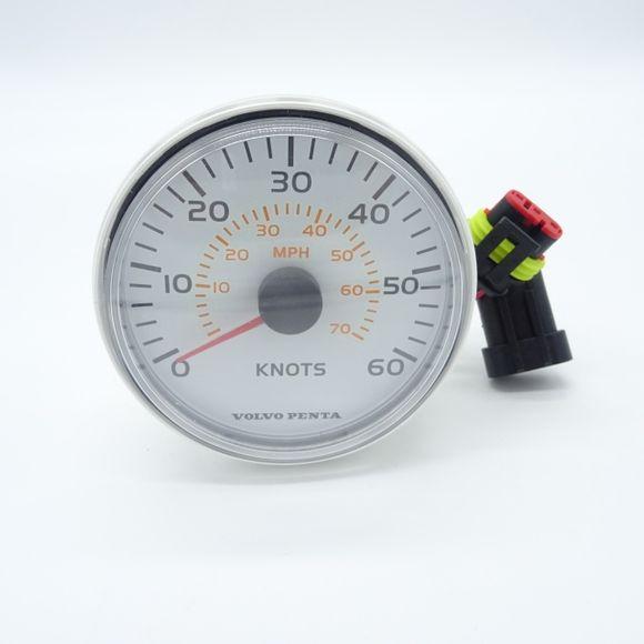 Ø85mm Volvo Penta Speedometer VP 881650 Skala 0-60 Knots 0-70 MPH – Bild 2