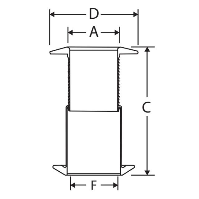 1 1/4'' Borddurchlass 28 - 75 mm Teleskop bündiger Flansch weiß – Bild 4