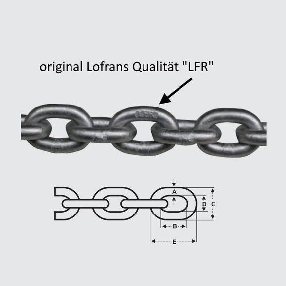 8mm Lofrans LFR G40 Ankerkette verzinkt +30% Bruchlast als G30 – Bild 2